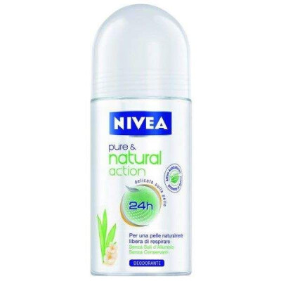 NIVEA DEODORANTE ROLL-ON PURE & NATURAL 50ML