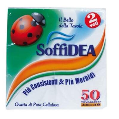 SOFFIDEA TOVAGLIOLI 38X38 2 VELI 50 PZ