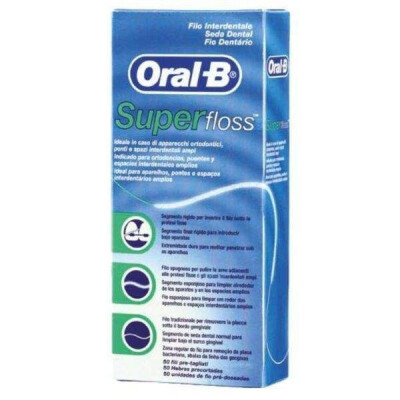 ORAL B FILO INTERDENTALE SUPER FLOSS 50 METRI