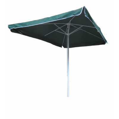 Ombrellone da giardino 3x3m a palo centrale con stecche in alluminio e palo in acciaio. Tessuto poliestere 180gr. colore verde. Apertura a carrucola.