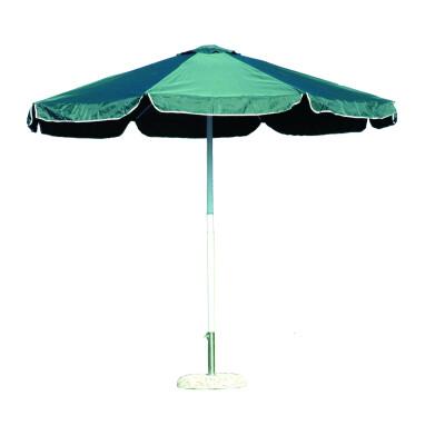 Ombrellone da giardino diametro 3 m a palo centrale con stecche in alluminio e palo in acciaio. Tessuto poliestere 180gr. colore verde.