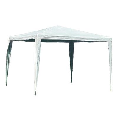 """Gazebo misura 3 x 3 m con struttura tubolare in acciaio verniciato. Tessuto """"PE"""" 120gr. Colore Bianco"""