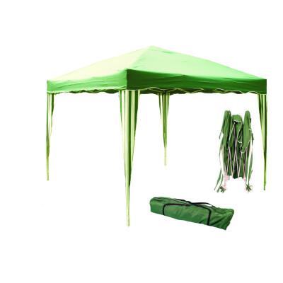 Gazebo ripiegabile 3 x 3 m.Struttura in alluminio /accaio. Tessuto in poliestere gr 150 colore Verde