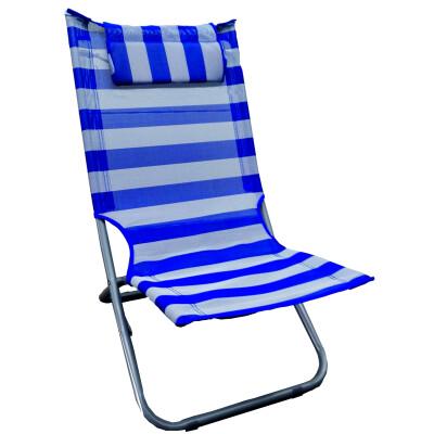 SEDIA in acciaio - tessuto textilene - tubo 22mm  - seduta alta - colori blu, verde, azzurro, arancio