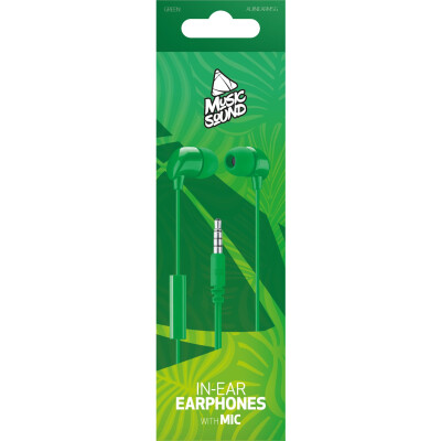 Cellularline Auricolare IN-EAR con microfono Verde