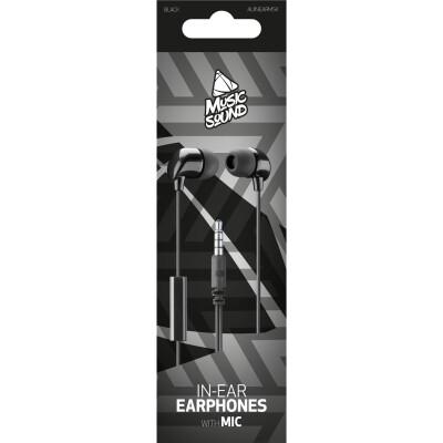 Cellularline Auricolare IN-EAR con microfono Nero