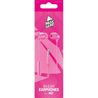 Cellularline Auricolare IN-EAR con microfono Rosa