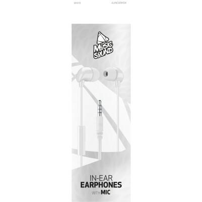 Cellularline Auricolare IN-EAR con microfono Bianco