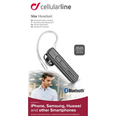 Cellularline Auricolare Bluetooth® mono ergonomico Vox Headset - Universale