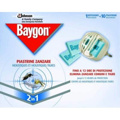 BAYGON ELETTRO EMANATORE PIASTRINA BASE + 10 PIASTRINE