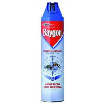 BAYGON BLU PLUS MOSCHE E ZANZARE SPRAY 400 ML.