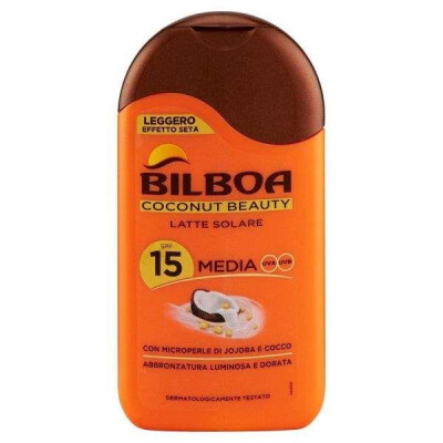 BILBOA COCONUT BEAUTY LATTE SOLARE PROTEZIONE MEDIA SPF 15 200 ML