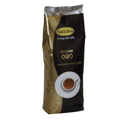 CAFFE' SACCARIA MISCELA IN GRANI SELEZIONE ORO 500 GR