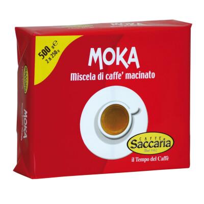 CAFFE' SACCARIA MISCELA DI CAFFE' MACINATO PER MOKA 2 CONFEZIONI DA 250 GR