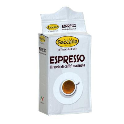 CAFFE' SACCARIA MISCELA DI CAFFE' MACINATO PER ESPRESSO 250 GR