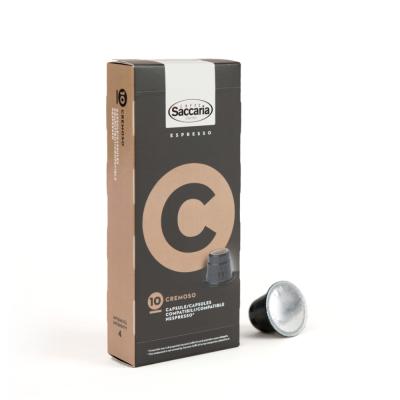 CAFFE' SACCARIA CREMOSO IN CAPSULA COMPATIBILE NESPRESSO - 100 CAPSULE