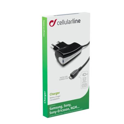 Cellularline Caricabatterie rete Micro USB 5W Nero