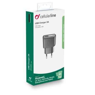 Cellularline Caricabatteria da rete USB Nero 1000 mAh