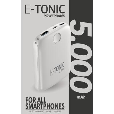 Cellularline Caricabatterie portatile 5000 mah Bianco Slim