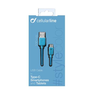 Cellularline Cavo 100 cm USB-C per la ricarica e sincronizzazione dei dati Blu