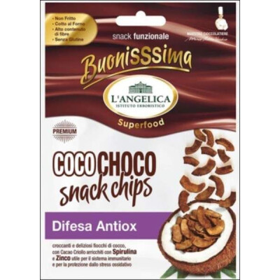 ANGELICA COCO CHOCO SNACK CHIPS ANTIOX DIFESA 20 GR
