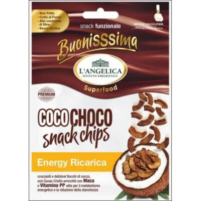ANGELICA COCO CHOCO SNACK CHIPS ENERGY RICARICA 20 GR