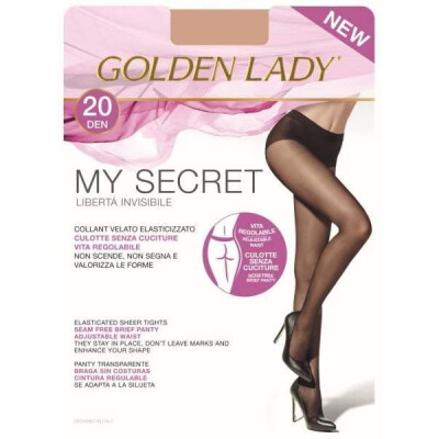 GOLDEN LADY COLLANT MY SECRET 20 DENARI 2 COLORE NERO