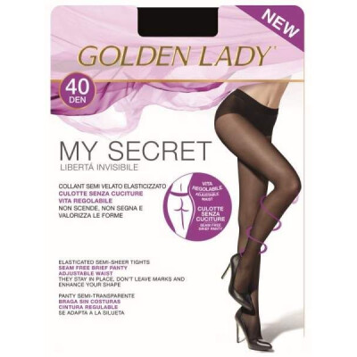 GOLDEN LADY COLLANT MY SECRET 40 DENARI 2 COLORE NERO