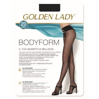 GOLDEN LADY COLLANT BODYFORM 20 DENARI TAGLIA 2 COLORE CASTORO
