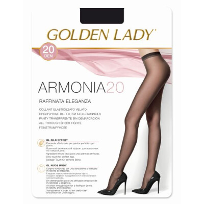 GOLDEN LADY COLLANT ARMONIA 20 DENARI TAGLIA 4 COLORE NERO