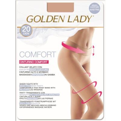 GOLDEN LADY COLLANT COMFORT 20 DENARI TAGLIA 4 COLORE MIELE