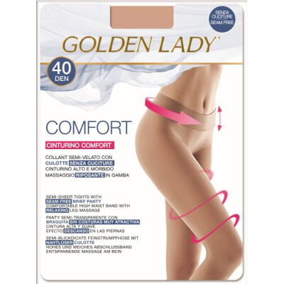 GOLDEN LADY COLLANT COMFORT 40 DENARI TAGLIA 2 COLORE NERO