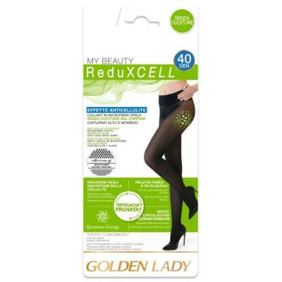 GOLDEN LADY COLLANT ANTICELLULITE REDUXCELL 40 DENARI TAGLIA 4 COLORE NERO