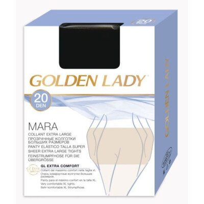 GOLDEN LADY COLLANT MARA 20 DENARI TAGLIA XL VISONE