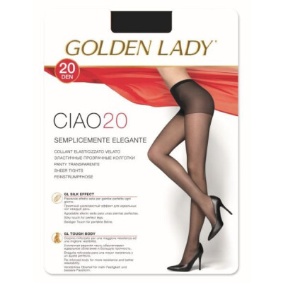 GOLDEN LADY COLLANT CIAO 20 DENARI TAGLIA 4 COLORE NERO