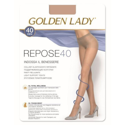 GOLDEN LADY COLLANT REPOSE 40 DENARI TAGLIA 5 COLORE CASTORO