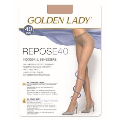 GOLDEN LADY COLLANT REPOSE 40 DENARI TAGLIA 5 COLORE CASTORO