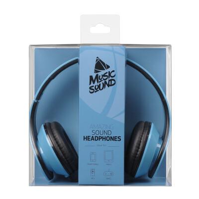Cellularline Cuffie a filo con archetto estendibile Music Sound Blu