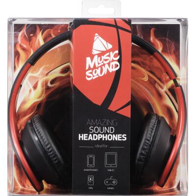 Cellularline Cuffie Stereo con microfono integrato e tasto risposta on-EAR alta qualità Rosso/Giallo