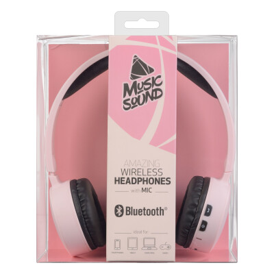 Cellularline Cuffie Wireless Bluetooth con Microfono Rosa