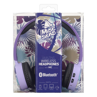 Cellularline Cuffie Wireless Bluetooth con Microfono Palme