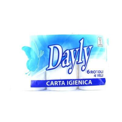DAYLY CARTA IGIENICA 6 ROTOLI 4 VELI