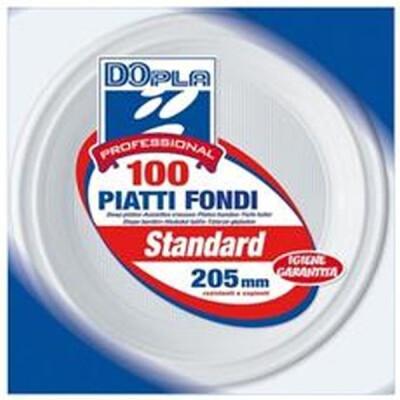 DOPLA PIATTI FONDI 100 PZ