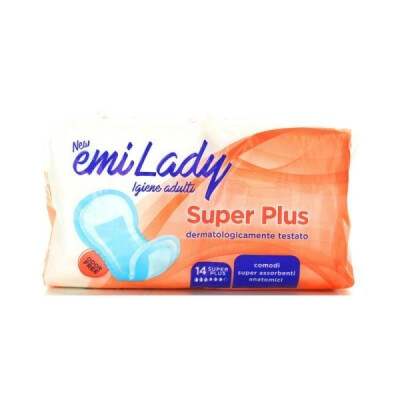 EMI ASSORBENTI LADY SUPER PLUS EXTRA LONG RIPIEGATI 14 PEZZI