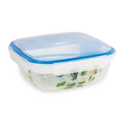 SNIPS FRESH LUNCH BOX 1,5 LT CON DECORO IML, TAVOLETTA ICE, COLTELLO, FORCHETTA E COPERCHIO LISCIO
