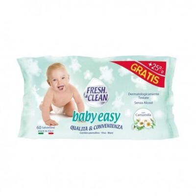 FRESH&CLEAN SALVIETTE BIMBI EASY 60 PZ