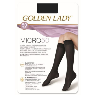GOLDEN LADY GAMBALETTO MICRO 50 DENARI COLORE NERO