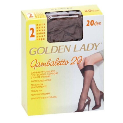 GOLDEN LADY GAMBALETTO FILANCA 20 DENARI COLORE CASTORO  2 PAIA