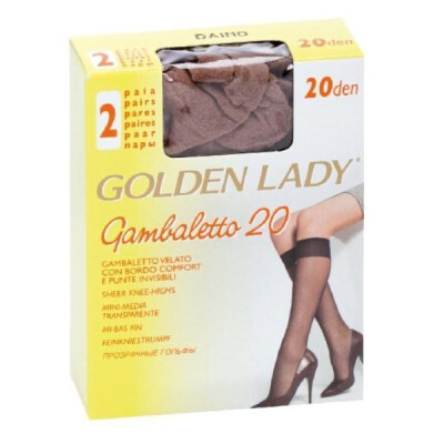 GOLDEN LADY GAMBALETTO FILANCA 20 DENARI COLORE DAINO 2 PAIA