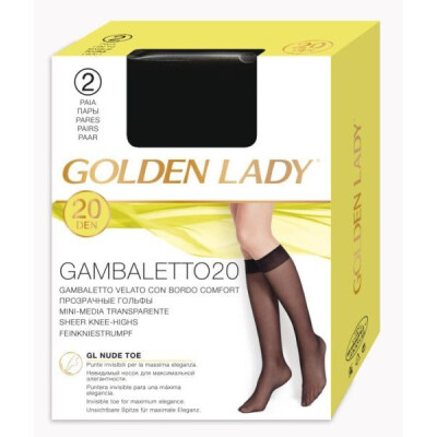 GOLDEN LADY GAMBALETTO FILANCA 20 DENARI COLORE NERO 2 PAIA